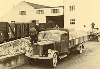Kartoffelannahme im Jahr 1940