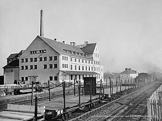 Fabrik in Sünching im Jahr 1953